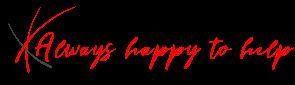 logo. always happy to help