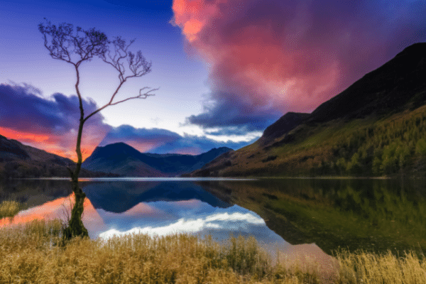sunrise at Buttermere in the Lake District