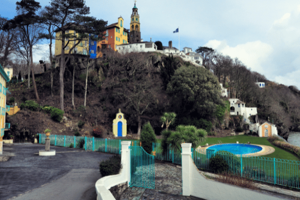 The Italian style village of Portmeirion in North Wales