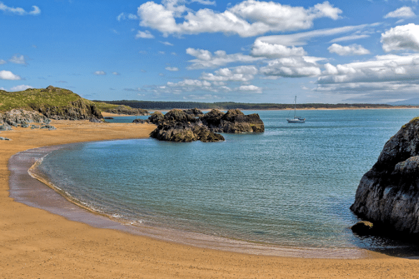 A beautiful bay on the Isle of Anglesey in north wales