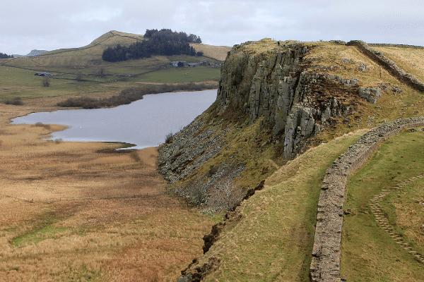 Hadrian's Wall, Cumbria. Northern England
